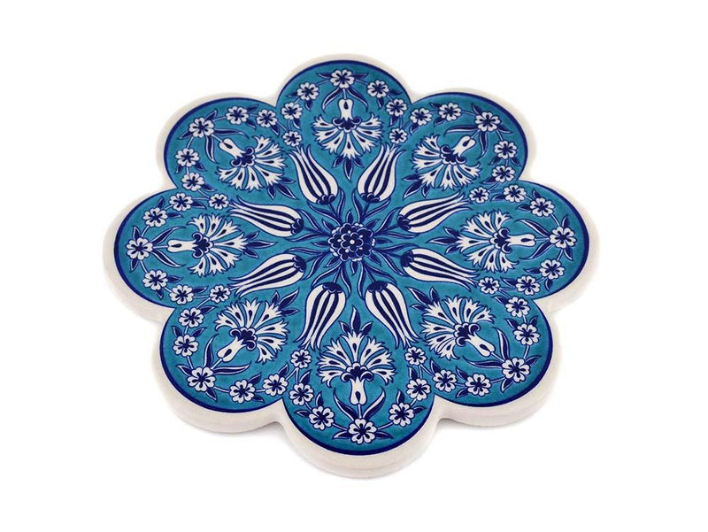Turkish Trivet Traditional Iznik Design 6 Ceramic Sydney Grand Bazaar