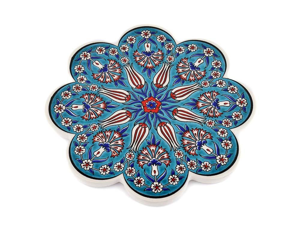 Turkish Trivet Traditional Iznik Design 7 Ceramic Sydney Grand Bazaar