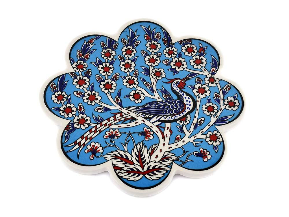 Turkish Trivet Traditional Iznik Design 8 Ceramic Sydney Grand Bazaar