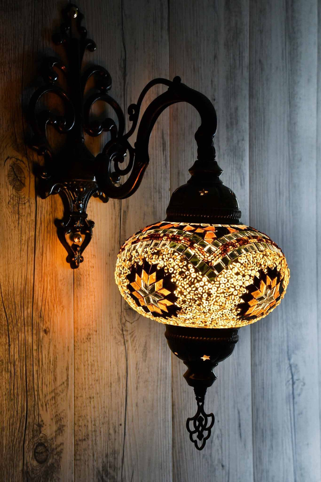 Turkish Wall Light Single Brown Exclusive Star
