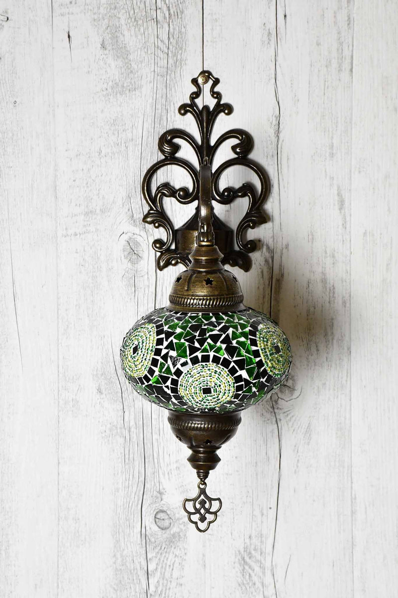 Turkish Wall Light Single Green Circle Lighting Sydney Grand Bazaar