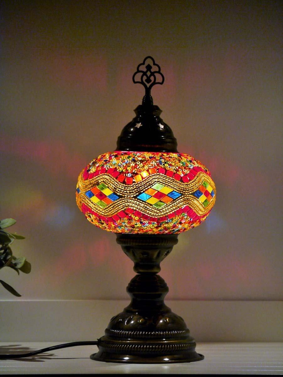 turkish table lamp multicolour australia