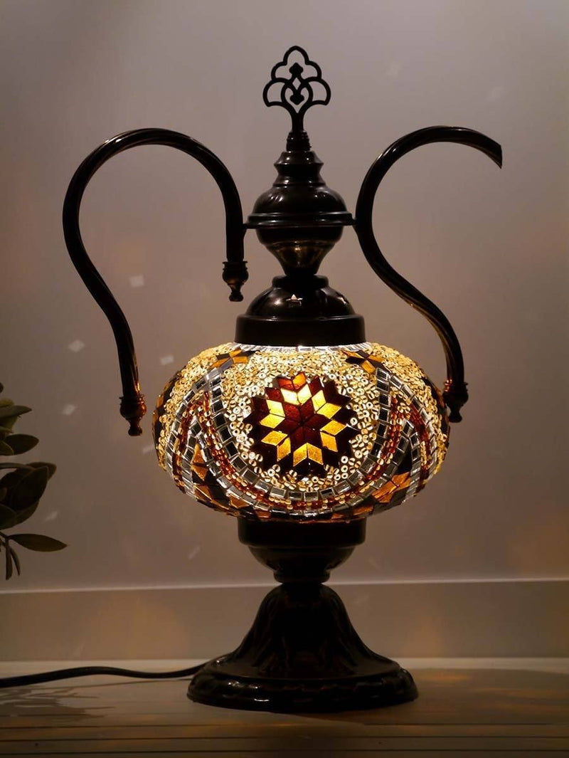 turkish teapot lamp brown colour