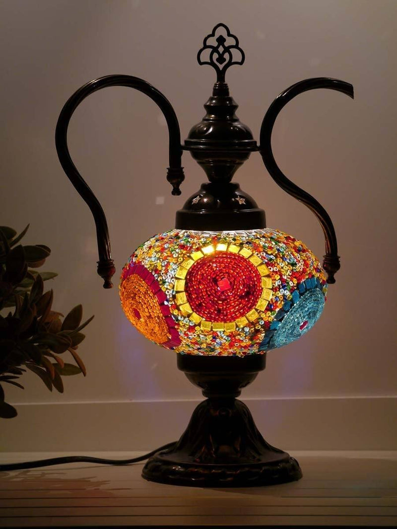 turkish teapot lamp multicolour australia
