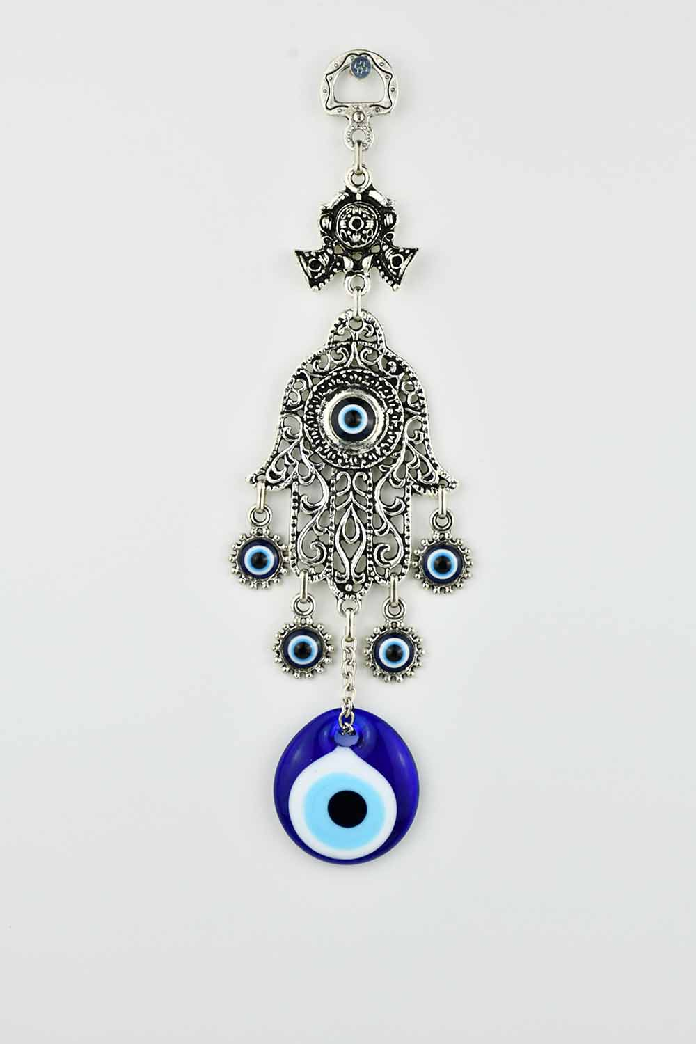 Evil Eye and Hamsa Hand Ornament Vintag Design.