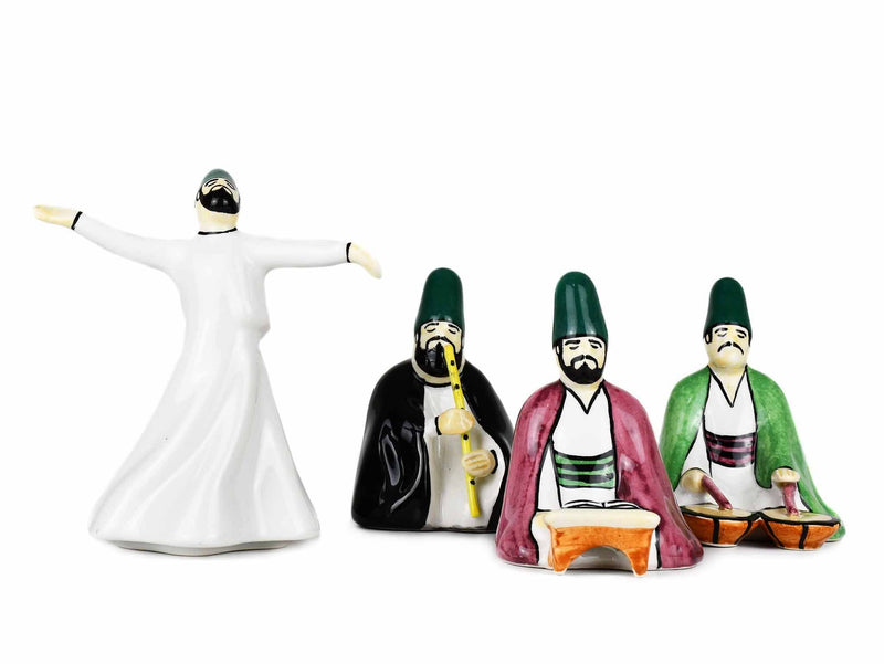Whirling Dervish Ceramic Set of 4 Collection 2 Ceramic Sydney Grand Bazaar
