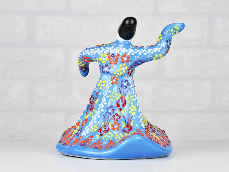 Whirling Dervish Dantel Large Light Blue Ceramic Sydney Grand Bazaar