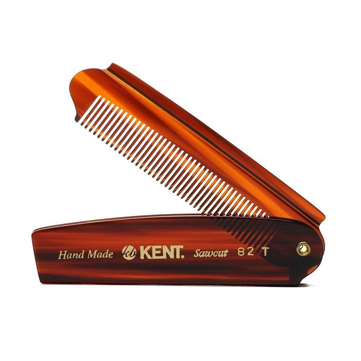 Kent Hand Made Folding Pocket Comb - Large - Cave London