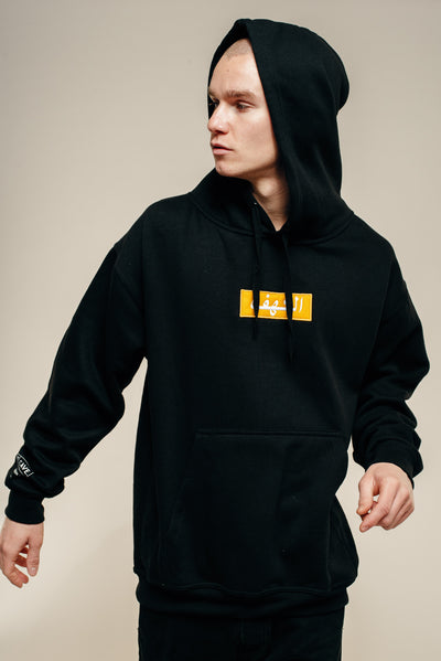 The Cave Black Arabic Hooded Sweatshirt