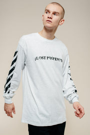Grey Lost Property Arabic Long Sleeve T-Shirt