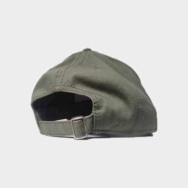 Triple Khaki Hubb/Love Distressed Arabic Cap - Cave London
