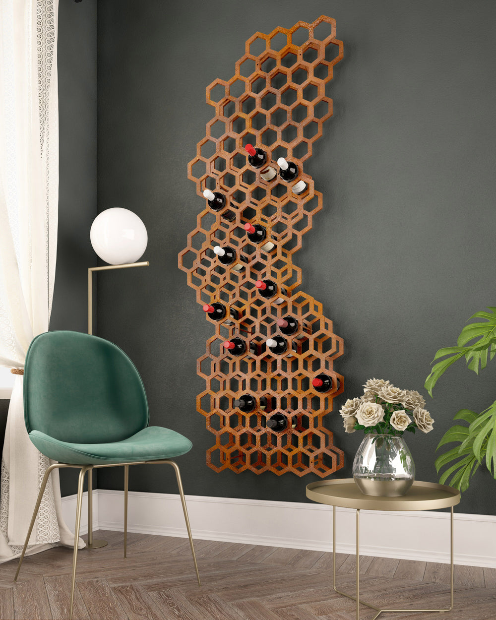 The Hive wine display