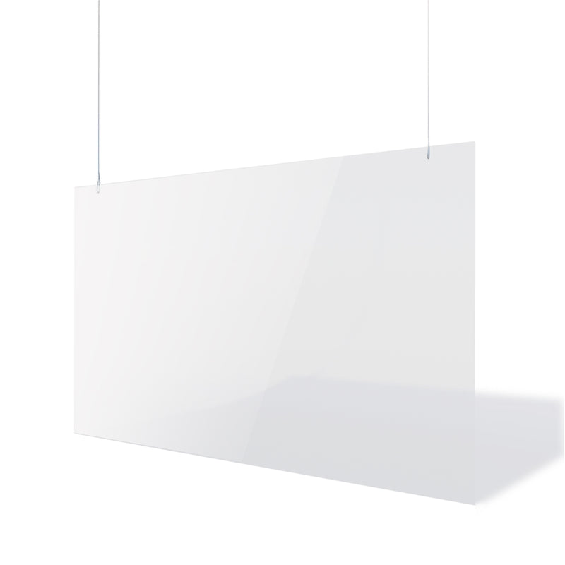 Clear Perspex Hanging Safety Shield