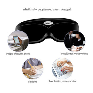 Electric Eye Vibration Massager Care Device Wrinkle Fatigue Relieve Magnet Therapy Acupuncture Massage Eyewear Glasses