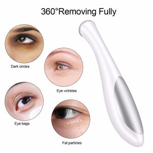 Electric Eye Massager Mini Eyes Wrinkle Dark Circles Removal Pen Anti Aging Massager Negative Ion Vibration Face Lifting Tool