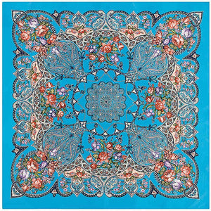 Bohemia  Luxury Style Square Scarf Women Paisley Design kerchief Handkerchief Turban Scarves For Ladies