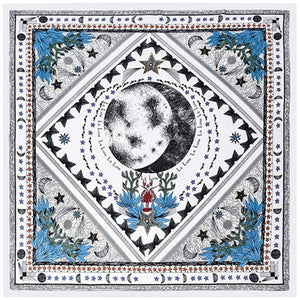 Square Silk Tarot Scarf Foulard Women Head Retro Hair Tie Band Neckerchief Small Bandana Neck Handband Hijab Scarves