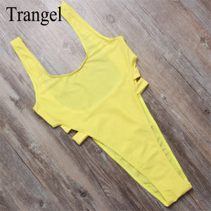 Trangel sexy female high Cut one piece swimsuit swimwear one pieces Brazilian swimsuit women swimsuit beachwear