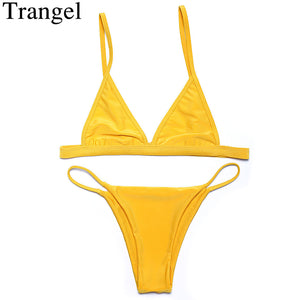 Trangel Bikinis women swimwear low waist bikini 2018 swimsuit sexy Brazilian Thong Bikini Set Beach Bathing Suit Swim Wear