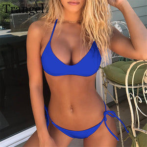 Trangel 2018 Sexy Women Bikini Set Push Up Swimwear Brazilian Bikini Beachwear Swimsuit Padded Bathing Suit Biquini Summer