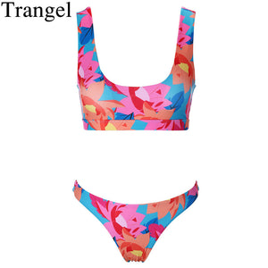 Trangel Brand Bikini 2018 Colourful Swimsuit Push Up Bikinis Women Sport Swim Wear Brazilian Bathing Suit Biquini Mujer Bodysuit