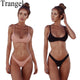 Trangel Solid Color Push up Swimsuit 2018 Bikini Set High Cut Swimwear Women Summer Beachwear Bathing Suit Brazilian Biquini