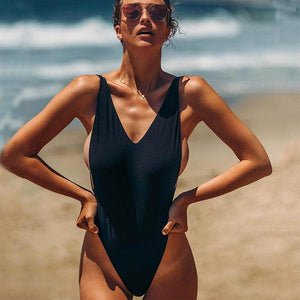 One Piece Swimsuit Women Bathing Suits Push Up Swimwear Deep V Bodysuit Summer Beach Bathing Suit Swim Monokini