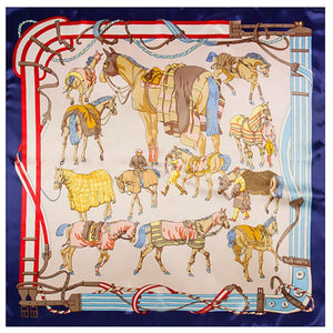 Horse Belt Square Scarf Fashion Women Silk Scarf Shawl Foulard Scarves Wraps