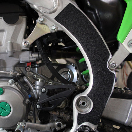 kx450f frame grip tape right side close up view by zilla griptape