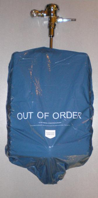 1/4 CASE OF BLUE URINAL COVERS (#13 3-packs) 39 covers total.