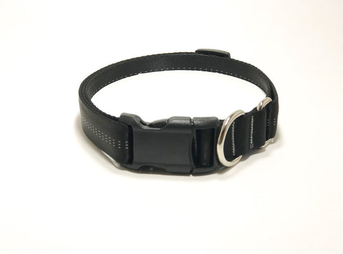 Slip Collar // Medium Dog // Midnight Black