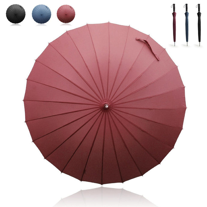 Manual Long Umbrella with 24 Ribs