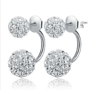 New Arrival Silver Plated Fashion Shiny Shambhala Earrings Jewelry for Women Promotion wholesale