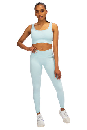 Ribbed Seamless Set - Artic Blue
