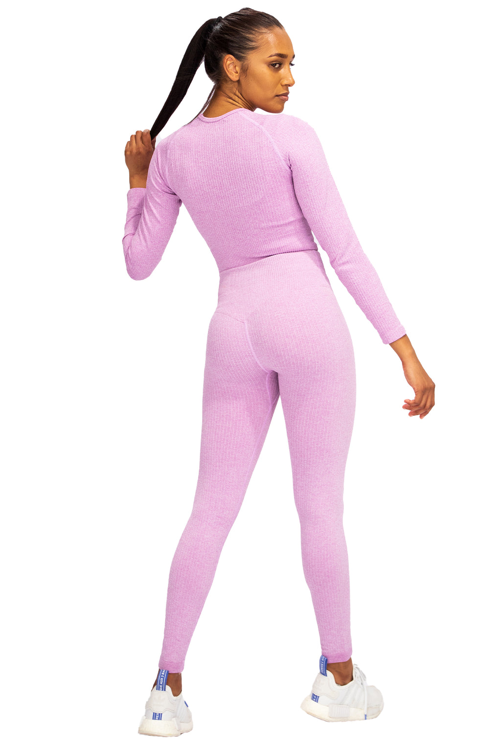 Ribbed Seamless  Crop - Cotton Candy