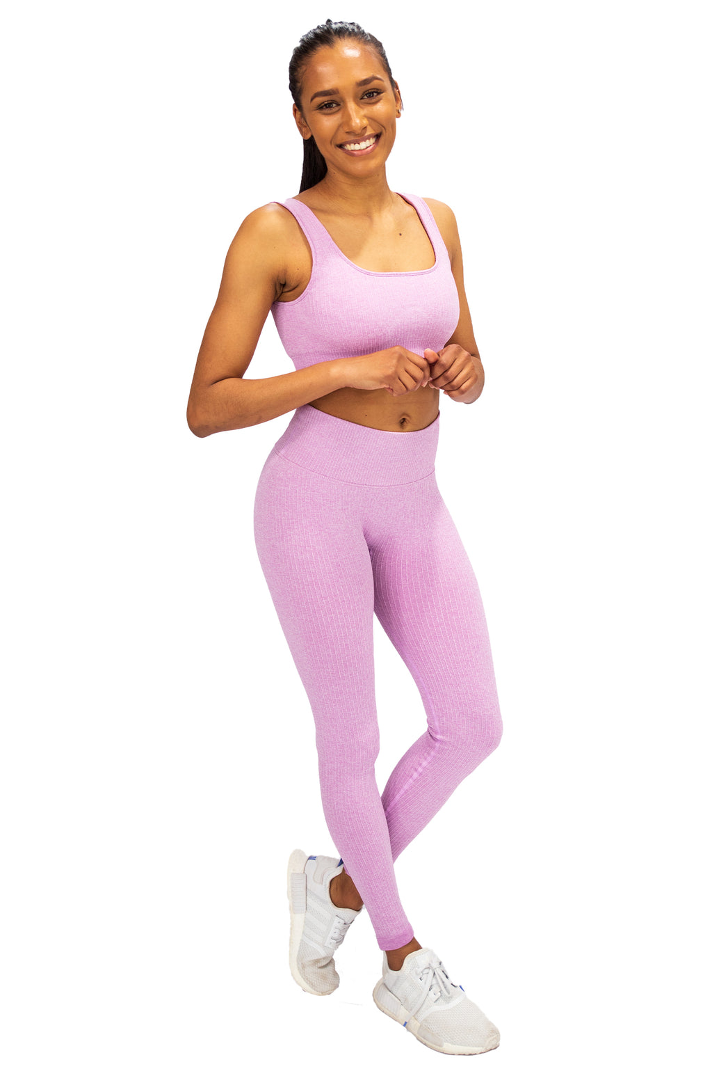 Ribbed Seamless Bra - Cotton Candy
