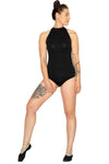 womans shoulder up bodysuit black