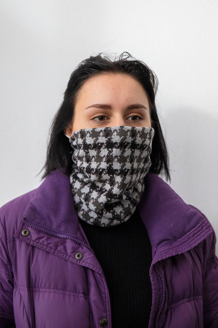 Face Buff Check Knit Kheper