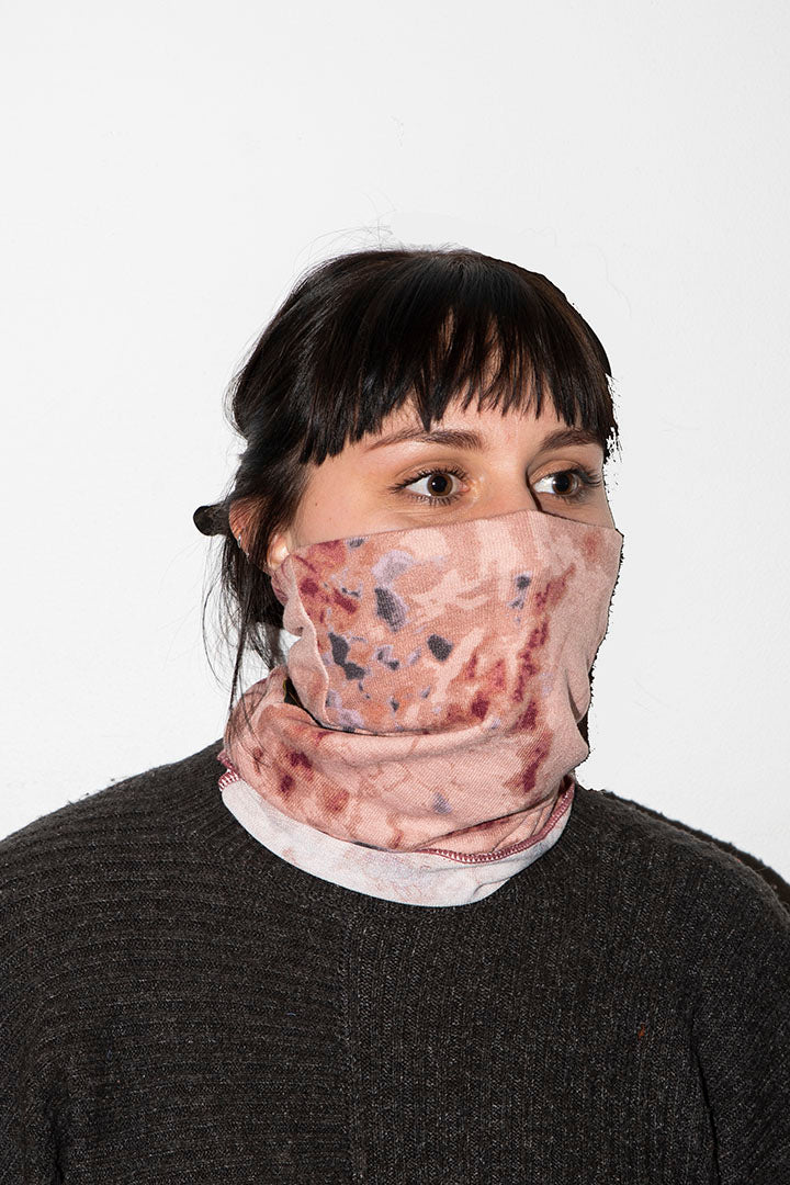 Face Buff Dusty Pink Knit Kheper