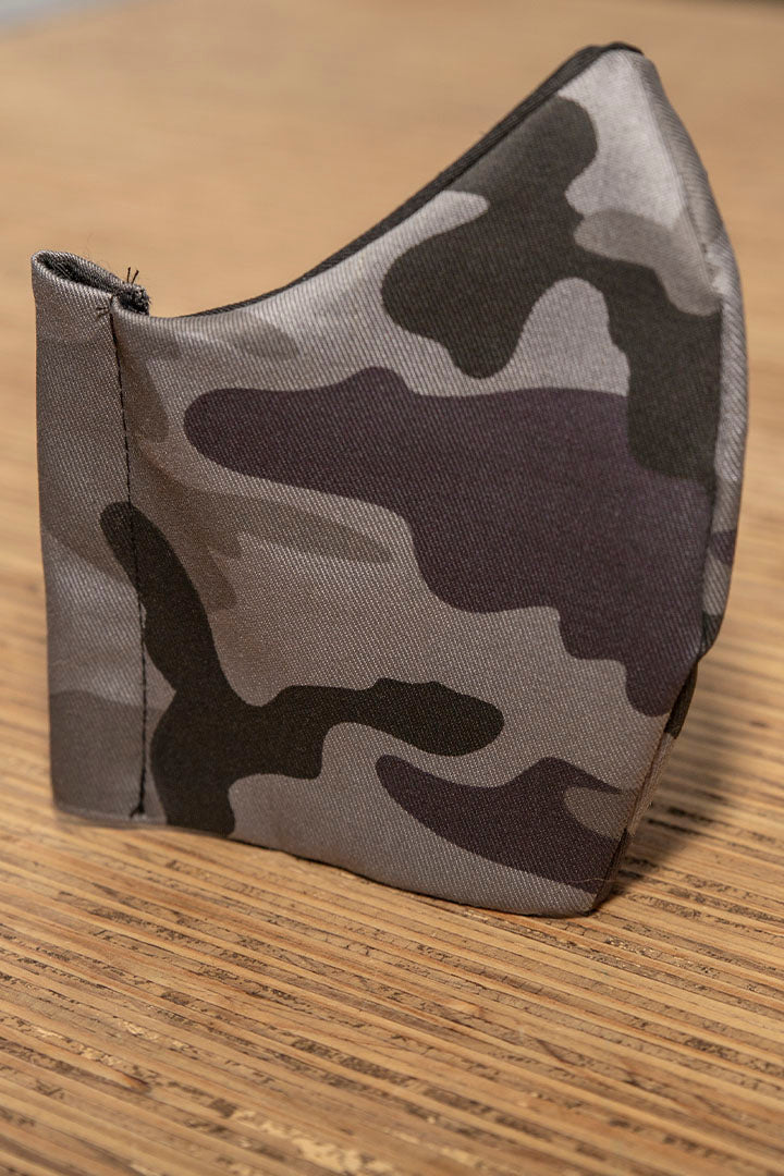 Face Mask Reusable Washable 100% Cotton Midnight Camo