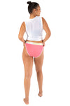 Kheper Bamboo High Cut Full Undies - Pink