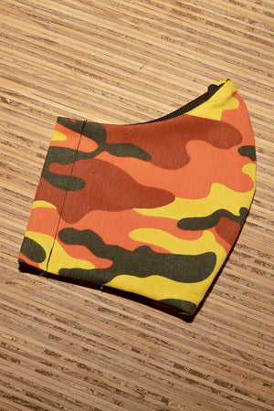 Face Mask Cotton Reusable Washable 100% Cotton Fire Camo