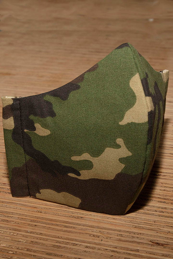 Face Mask Cotton Reusable Washable Army Camo