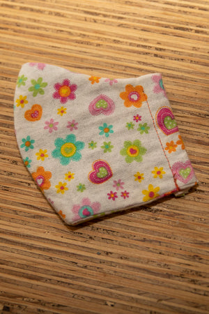 Kids Face Mask Cotton Reusable Washable 100% Cotton Flower Pattern