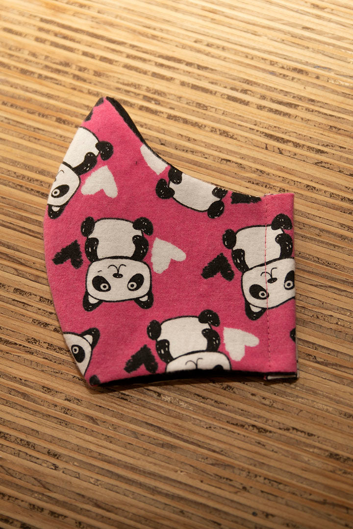 Face Mask Cotton Reusable Washable 100% Cotton Panda