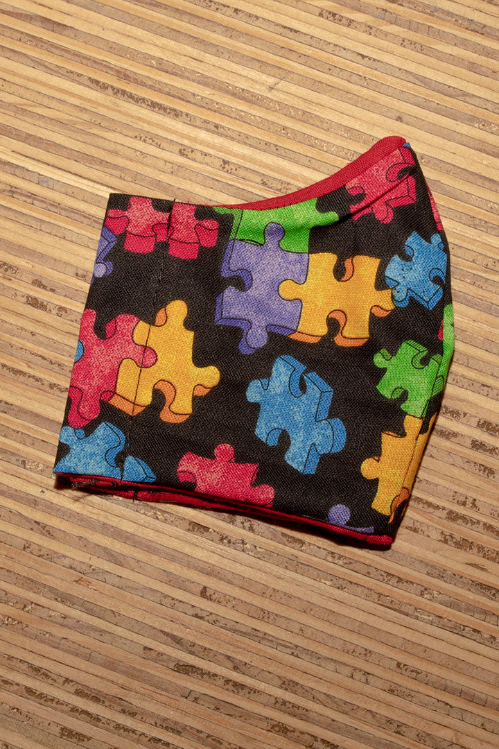Face Mask Cotton Reusable Washable 100% Cotton Puzzle