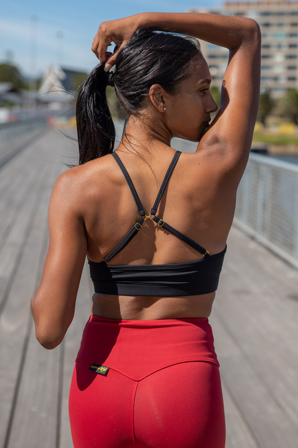 Kheper Hybrid Sports Bra - Black