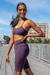 Kheper Hybrid Sports Bra - Grape