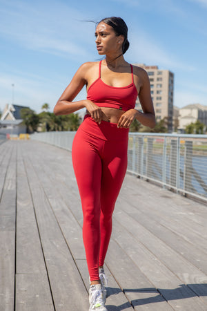 Kheper Hybrid Sports Bra - Raspberry