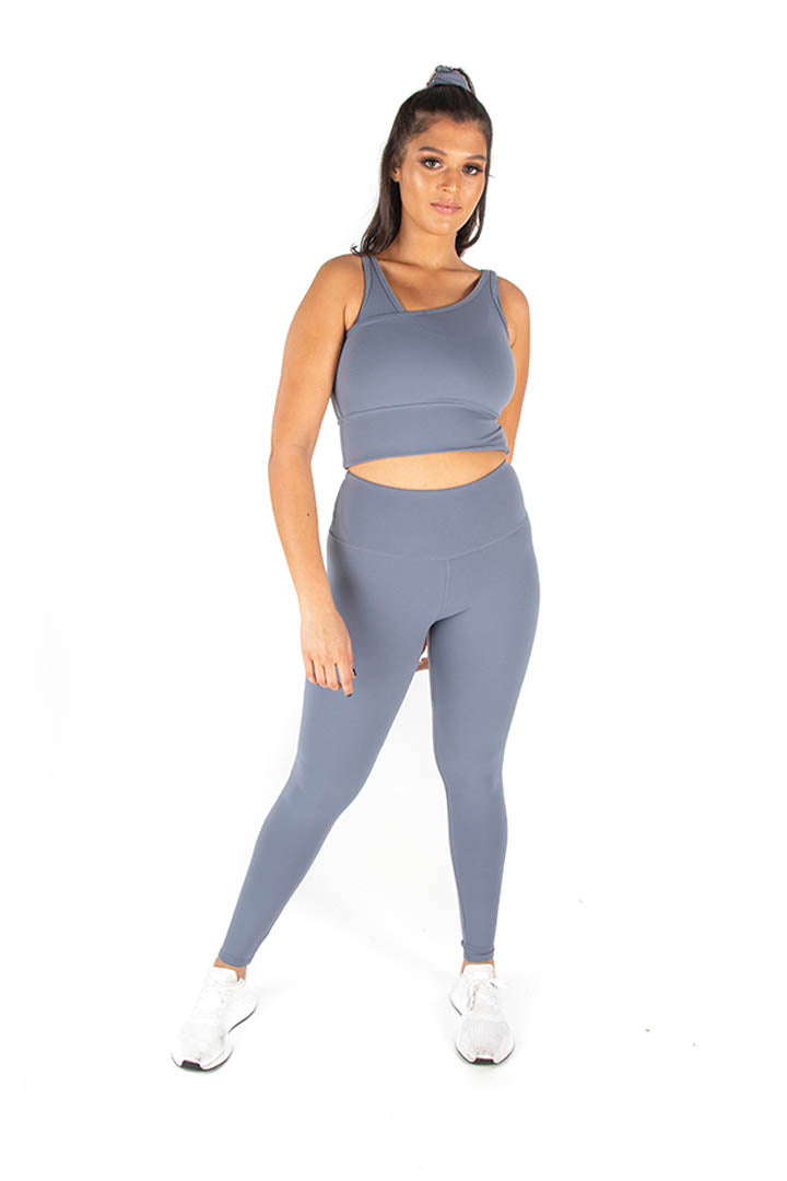 Kheper V POP High Waisted Gym Tights - Iris